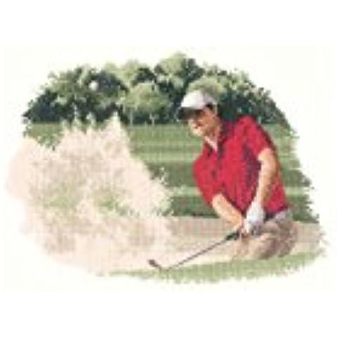 Heritage Crafts-Kit per punto croce, motivo: giocatore di golf