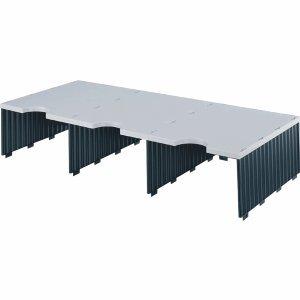 Styro Aufbaueinheit trio 3 Fächer grau/schwarz