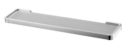 bisk-natura-frosted-glass-shelf-holder-chrome