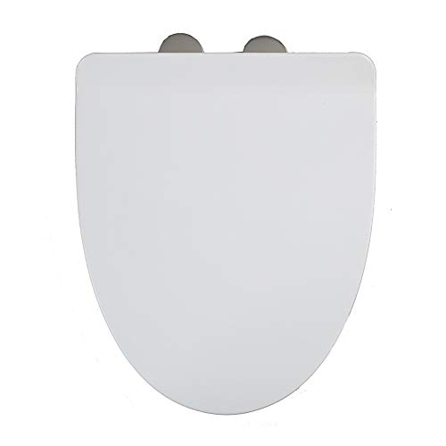 Verdicken sie Längliche Weiß Wc sitze Mit grip tight stoßstangen Whisper-close Quick-release-scharniere Quick-befestigen sie hardware Einfache entfernung zu reinigen und pflegen-Weiß (Längliche Holz-wc-sitz Schwarz)