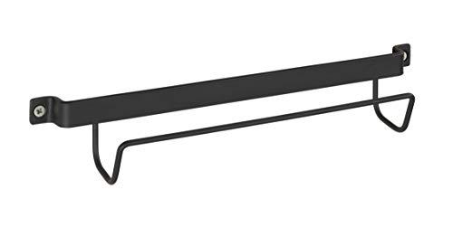 Halterung Aus Metall (WENKO 50431100 Leiternhalter, Wand-Halterung für Leitern, lackiertes Metall, 33.5 x 6.5 x 7 cm, Schwarz)