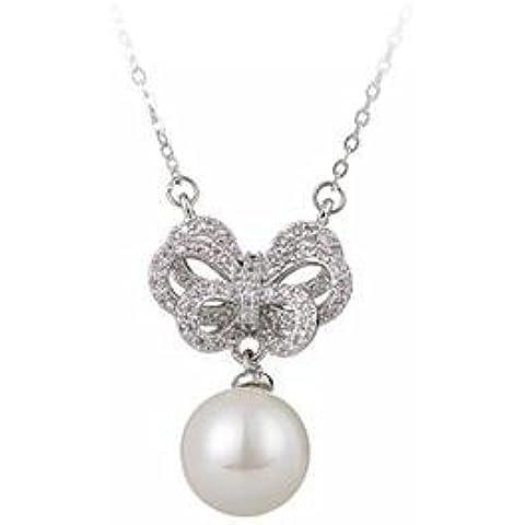 HUAXI Collana/ciondolo/moda/bellezza/diamante/arco/clavicola catena/accessori/facile da abbinare vestiti/artigianato/Regali - Bellezza Arco