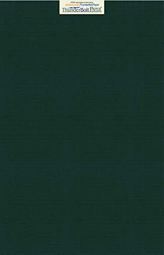 15dunkelgrün Leinen Papier 80# Abdeckung Blatt-30,5x 45,7cm (30,5x 45,7cm) large|poster Größe-80Lb/Pfund Karte Gewicht-Feine Leinen Texturierte Finish-Deep Dye Qualität Karton