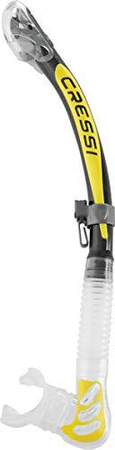 Cressi Alpha Ultra Dry, Tauchen und Schnorcheln Silikon Dry Schnorchel-100{d4dae9b48c87f8716e558ad8a09275738e6f029ee70b24e218ea8567432b86a0} Made in Italy, Unisex, Transparent/Gelb