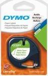 Dymo 10697 1.3 cmx 13ft. Letratag White Paper Tape,2-count (3-Pack) (Kunst und Handwerk Klebeband)