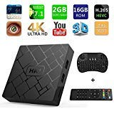[Free Wireless Keyboard] 2018 J-DEAL 4K 7.1 Android TV Box