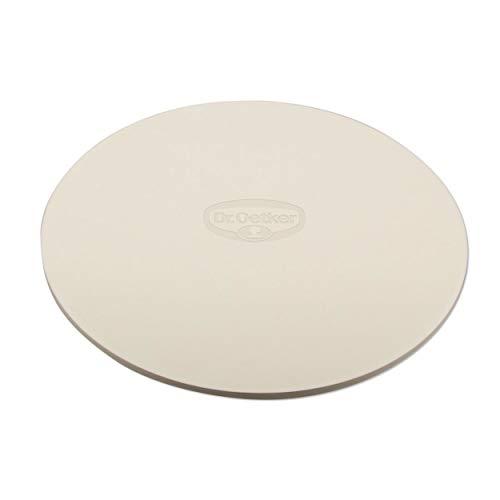 Dr. Oetker Back- und Pizzastein Ø 33 BACK-SPASS, Backstein aus Keramik (Farbe: Teracotta)