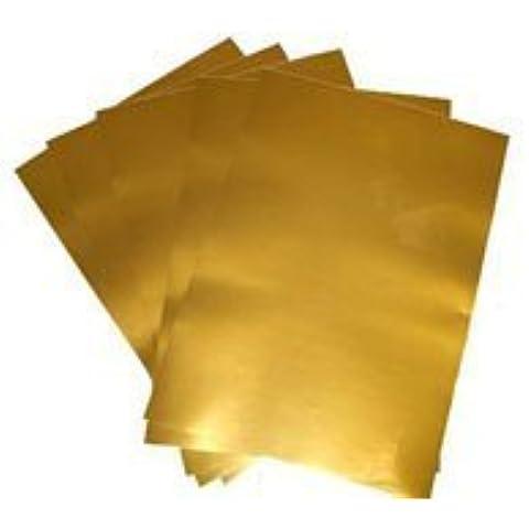 Láser Y Copiadora Para Imprimir Oro Film De Vinilo Adhesivo, Liberación De Papel 80 Micras, 10 A4 Láminas