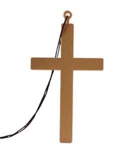 Halloween Priester Kostüm (Priester Kreuz (24 cm))