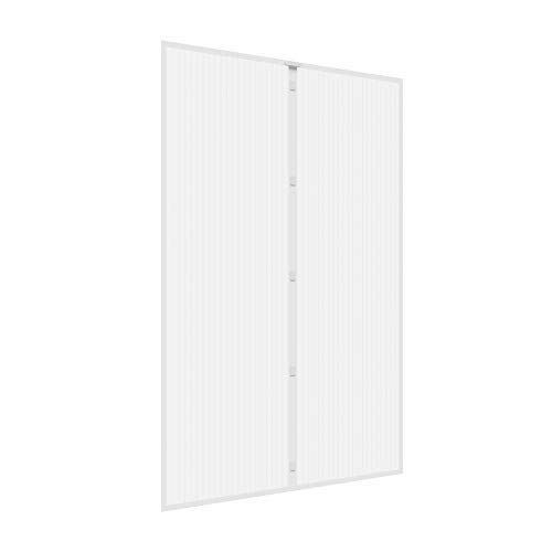 Jarolift zanzariera a tenda magnetica per porte, 160 x 230 cm bianco, accorciabile in altezza e larghezza