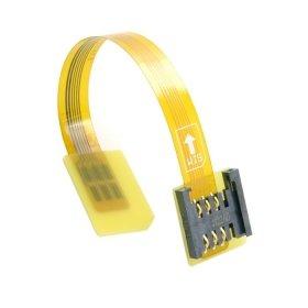 cablecc GSM CDMA Standard uim Sim Card Kit Männlich zu Weiblich Verlängerung Soft Flat FPC Kabel Verlängerung 10cm Gsm-cdma