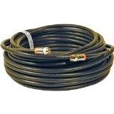 STEREN bl-215–350BK 15.24m schwarz Kabel Koaxial–Kabel Koaxial (Gold, RG6, 15,2m, weiblich/weiblich, schwarz, 1Stück (S))
