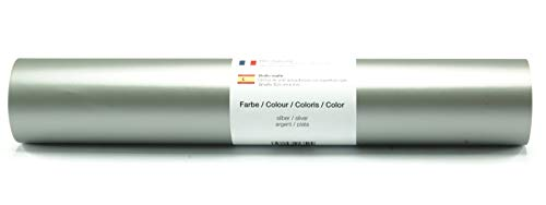 Selbstklebende Wandtattoo-/ Plotterfolie Vinylfolie matt 30,5 cm x 3 m - Farbauswahl, Farbe:Silber