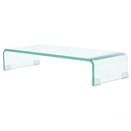Zora Walter TV-Tisch/Bildschirmerh?Hung Glas Transparent Fernsehtisch/Couchtisch with Size:60x25x11 cm