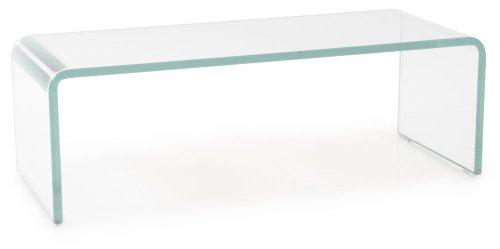fernseh erhoehung BHP TV-Schrank Glasaufsatz Monitorerhöhung Glas gebogen transparent 60cm HAGEN B153048-1