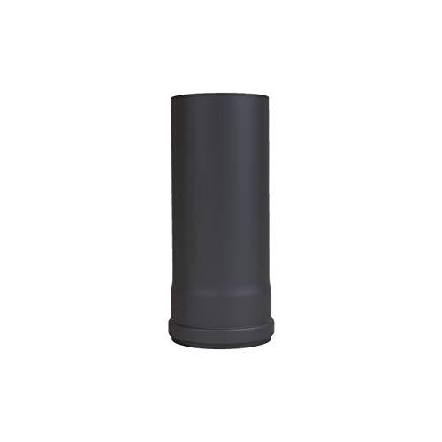 LANZZAS Pellet Tuyau de cheminée à granulés Noir Ø 100 mm