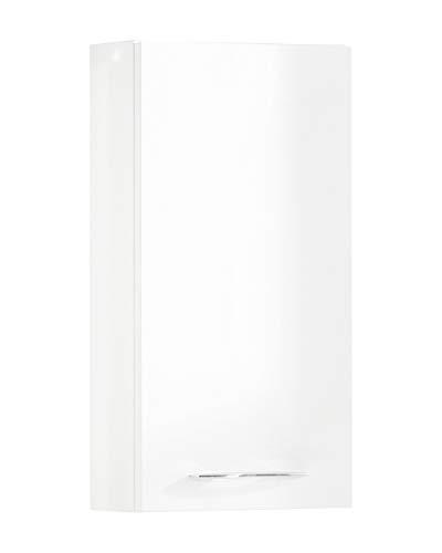 FACKELMANN Hängeschrank VADEA/Badschrank mit Soft-Close-System/Maße (B x H x T): ca. 35 x 68 x 16 cm/Schrank fürs Badezimmer mit 1 Tür/Türanschlag rechts/Korpus: Weiß/Front: Weiß