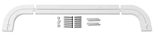 1-2- läufig Gardinenschiene Vorhangschiene Set Vorgebohrt mit Rundbögen und Montagezubehör 300cm (2X 150cm) 1-läufig Gardinenschiene