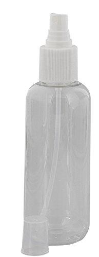 Klare Flasche mit Zerstäuber leer 250ml, Kosmetex Sprüh-Flasche, Plastik, zylindrisch, transparent, 1 x 250 ml (Sprühflasche Ml 250)