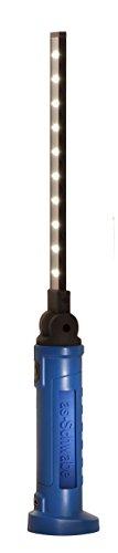 as - Schwabe 42807 LichtFabrik Evo 2 Batterie de lampe d'inspection 3 Watts 10 + 3 LED Bleu