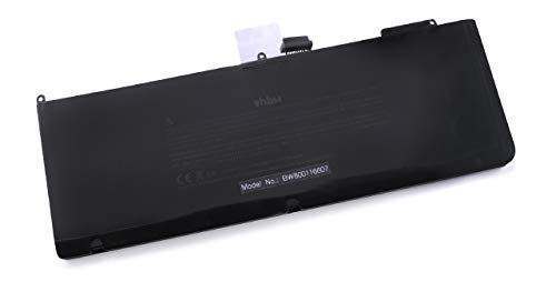 vhbw Li-Polymer Akku 4400mAh (11.1V) schwarz für Laptop, Notebook Apple MacBook Pro 15.4