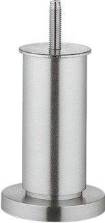 Gedotec Verstellfuß Möbelfuß höhen-verstellbar mit Gewindesift M8 - NENA | Sockelfuß mit Höhe 160 mm | Tragkraft: 80 kg | Kommoden-Fuß Aluminium silber eloxiert | 1 Stück - Design Sofa-Fuß für Möbel