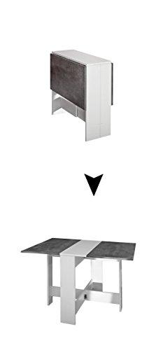 Symbiosis Trick C3 Tavolo Pieghevole, Metallo, Bianco, 73.4 x 103 x 76 cm