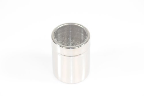 Paderno World Cuisine 1/4 Quart Stainless-steel Sugar Dredger with a Mesh Lid by Paderno World Cuisine Paderno World Cuisine Mesh
