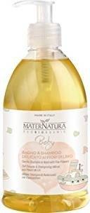 MATERNATURA BABY - BIO-Mildes Shampoo & Bad mit Flachsblüten 500 ml - Milde Pflege für die zarte Babyhaut - Vegan, Hergestellt in Italien -