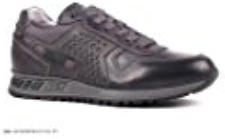 on sale fac26 7f58f néron giardini basket hommes gris noir en cuir a604350u-101 a604350u-101  a604350u-