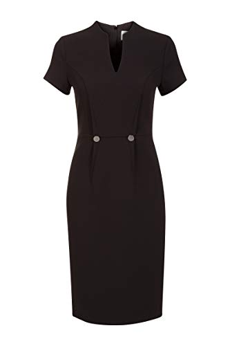 Promiss Damen Kleid Einfarbig Diana D Apparel Dress Diana D,40,Schwarz