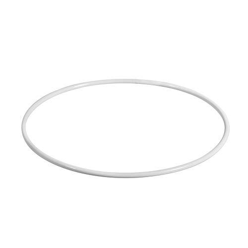 Rayher 2505000 Metallringe, beschichtet, weiß, 10 cm ø