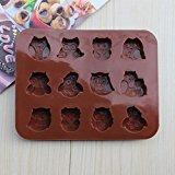 Zantec Silikon Süßigkeiten Schokolade und Seifenformen Mold Pan Liner Verwendung für Eiswürfelbehälter, selbstgemachte Seife, Schokolade, Gummibärchen, Jello, Candy, Kuchen.Set von 1 (AD107) Silikon Candy Mold Gummibärchen