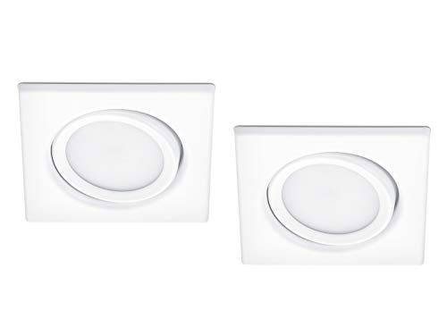 - Papelera LED Foco orientable en doble Pack Blanco Mate 5 W - Flexible Iluminación de...