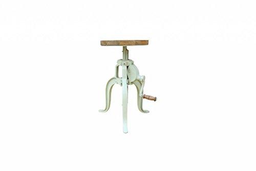 Industrial Hocker Barhocker höhenverstellbar mit Kurbel Drehhocker Vintage retro telegrau