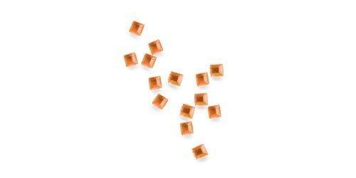 Chen, de strass carré – environ 50 Stck. – 05 orange