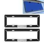 RISHIL WORLD 2 PCS Simple and Beautiful Car License Plate Frame Holder Universal License Plate Holder Car Accessories(Black)