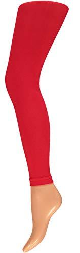 Rote Leggings Kostüm - krautwear Damen Mädchen Leggins Leggings 60