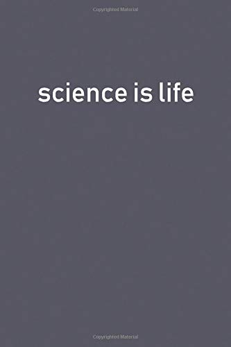 science is life: Lined Notebooks