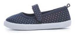 Kids Girls Mary Jane Pumps Canvas Trainers Summer Beach Shoes Size UK 4 - 12 (UK 9 (infant), Milly Navy)