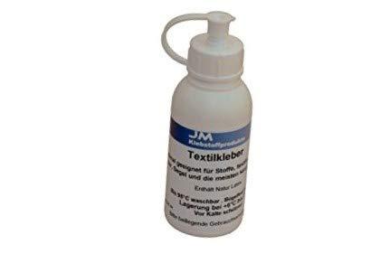 Latex-stoff-kleber (JM Textilkleber 100g - waschbar bis 95°C- Bügelfest bis 180°C)