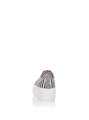 Sixtyseven Plataforma, Sneaker Femme Blanc / Noir