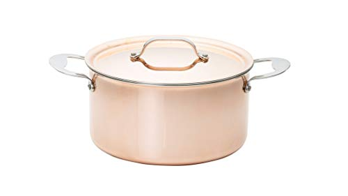 Copper Tri-Ply Family Stockpot, 24cm - 5.8 Litre