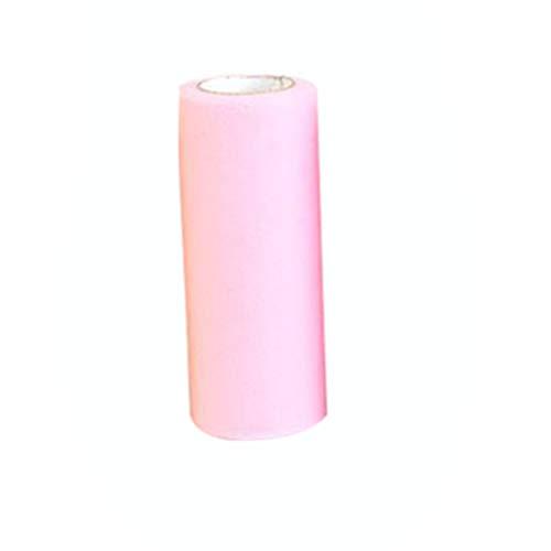 Healifty rotoli di tulle tessuto tulle rosa chiaro 15 cm larghezza 25 metri tavolo runner sedia fascia arco tutu gonna panno per cucire fai da te materiale da costruzione