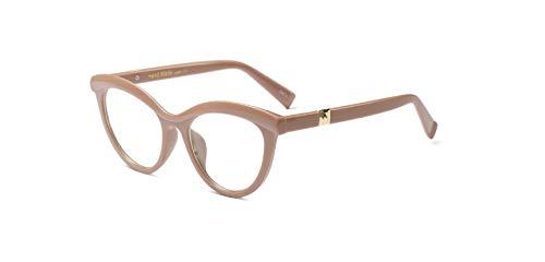 Stillar - Mode Frauen rote Katzenaugen-Glas-Rahmen-Marken-Entwerfer Weibliche Brillen optische Brillenfassungen Frauen Brillengestell Oculos [braun]
