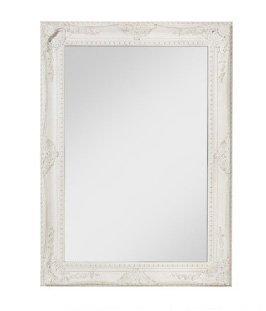 Specchiera di legno bianca stile vintage contornata di fregi L'ARTE DI NACCHI NT-33