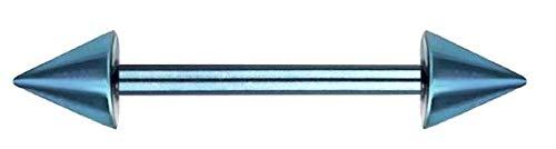 Brustwarzenpiercing Frau Herren Stab Kugeln nickelfrei Nippelpiercing Brust Piercing Titan Blau-16mm -