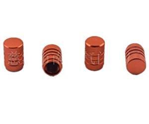 Xel Uu.11pezzi auto pneumatici cerchioni colorate valvola aria tappi valvola pneumatico di copertura, Orange