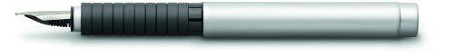 Faber-Castell 148520 - Füllfederhalter BASIC Metall, Feder: M, Schaftfarbe: silber matt