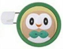Pokemon Sun & Moon Round Brooch Pin Badge~Mokuroh Rowlet Bauz
